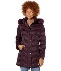 Kenneth Cole New York Chevron Quilted Puffer w\u00
