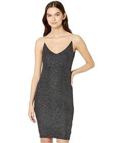 Bebe Cowl Back Bodycon Dress Rhinestone Strap
