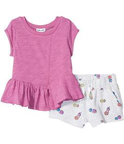 Splendid Littles Pineapple Print Shorts Set (Toddl