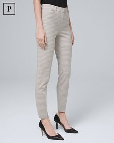Petite Patterned Slim Ankle Pants