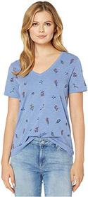 Lucky Brand Tossed Floral Embroidered Tee