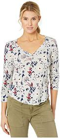 Lucky Brand All Over Printed Thermal Top