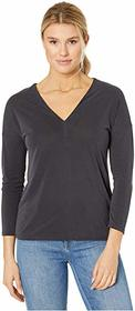 Lucky Brand Long Sleeve V-Neck Sandwash Top