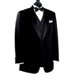 Jos Bank Black Notch Collar Tuxedo Jacket CLEARANC