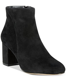 INC Floriann Block-Heel Ankle Booties, Created for