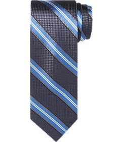 Jos Bank Reserve Collection Stripe Tie - Long CLEA