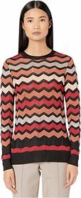 M Missoni Long Sleeve Tunic Top in Zigzag Stitch