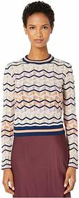 M Missoni Long Sleeve Top in Zigzag Stitch