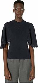 See by Chloe Cape Sleeve Sweater with Lace Detail