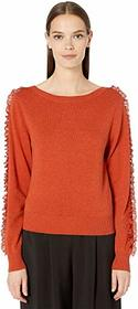 See by Chloe Lace Detail Long Sleeve Sweater