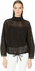 See by Chloe Lace Turtleneck Layering Sweater
