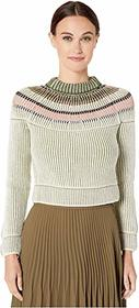 M Missoni Long Sleeve Sweater with Yolk Detail