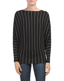PHILOSOPHY Ribbed Stripe Dolman Pullover Sweater