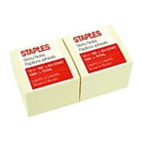Staples Stickies Standard Notes, 3 x 3, 100 Sheets