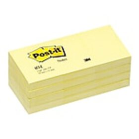 Post-it® Notes, 1-1/2 x 2, Canary Yellow, 100 Shee