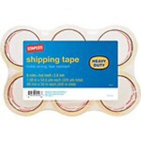 Staples® Heavy Duty Shipping Packing Tape, 1.88 x