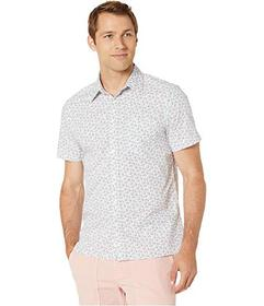 Perry Ellis Multicolor Fish Print Short Sleeve Shi