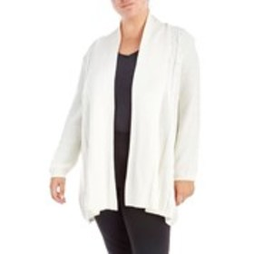 NOTATIONS Plus Size Cable Knit Cardigan