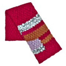 BEBE Womens Multi-Color Chunky Knit Scarf