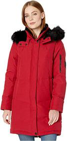 Vince Camuto Chevron Quilted Down Parka