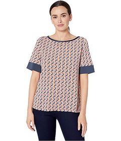 Jones New York 3\u002F4 Sleeve Easy Top