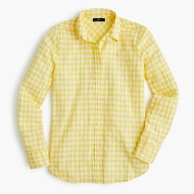 J. Crew Classic-fit boy shirt in crinkle gingham
