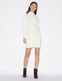 Armani MINI DRESS IN VISCOSE AND WOOLLEN JERSEY