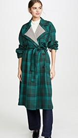 See by Chloe Plaid Trench Coat