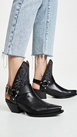 R13 Ankle Half Cowboy Boots w/ Harness