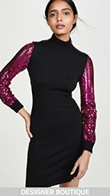 Moschino Sequin Sleeves Dress