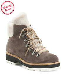 NAPOLEONI Made In Italy Suede Shearling Lined Boot