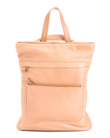 ASPEN Convertible Leather Backpack