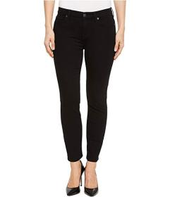 7 For All Mankind B(air) Kimmie Crop in Jet Black