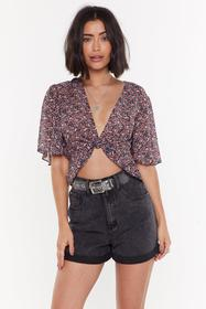 Nasty Gal Womens Black Haven't Dot a Clue Floral C