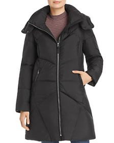 Cole Haan - Hooded Mid-Length Puffer Coat