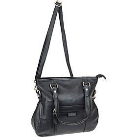 R & R Collections Top Zip Satchel