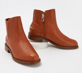 Franco Sarto Leather Booties - Happily - A376946