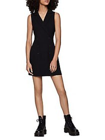 BCBGeneration Tuxedo Mini Dress BLACK