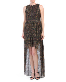 ADRIANNA PAPELL Hi Low Lace Dress