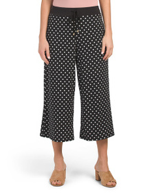 JONES NEW YORK SIGNATURE Cropped Culotte Pants Wit