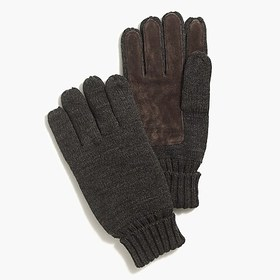 J. Crew Factory Marled suede gloves