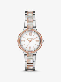 Michael Kors Taryn Pavé Two-Tone Watch