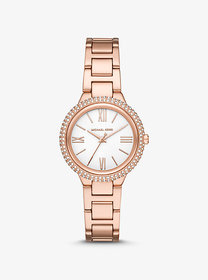 Michael Kors Taryn Pavé Rose Gold-Tone Watch