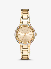 Michael Kors Taryn Pavé Gold-Tone Watch