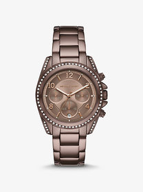 Michael Kors Oversized Blair Pavé Sable-Tone Watch