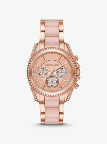 Michael Kors Oversized Blair Pavé Rose Gold-Tone a