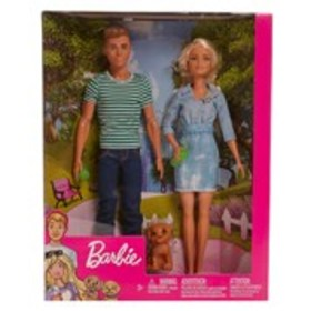 BARBIE Barbie, Ken, & Puppy Doll Set