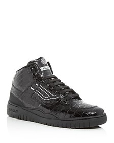 Bally - Men's King Croc-Embossed Leather High-Top