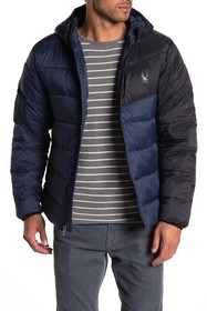 SPYDER Colorblock Puffer Jacket