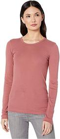 Splendid 1x1 Rib Classic Long Sleeve Crew Neck Tee